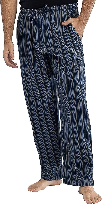INTIMO Mens Printed Striped Pajama Sleep Pants