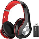 Mpow 059 Bluetooth Headphones with Bluetooth Transmitter, Hi-Fi Stereo Wireless Headset Over Ear, Soft Memory-protein Earmuffs, Foldable Headphones w/ Built-in Mic and Carrying Case for PC/ Cell Phone