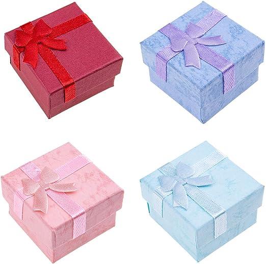 yangzhoujinbei - Caja de Regalo con Lazo Simple para Joyas, Collares, Pulseras, Pendientes, Anillos, Caja de Regalo: Amazon.es: Hogar
