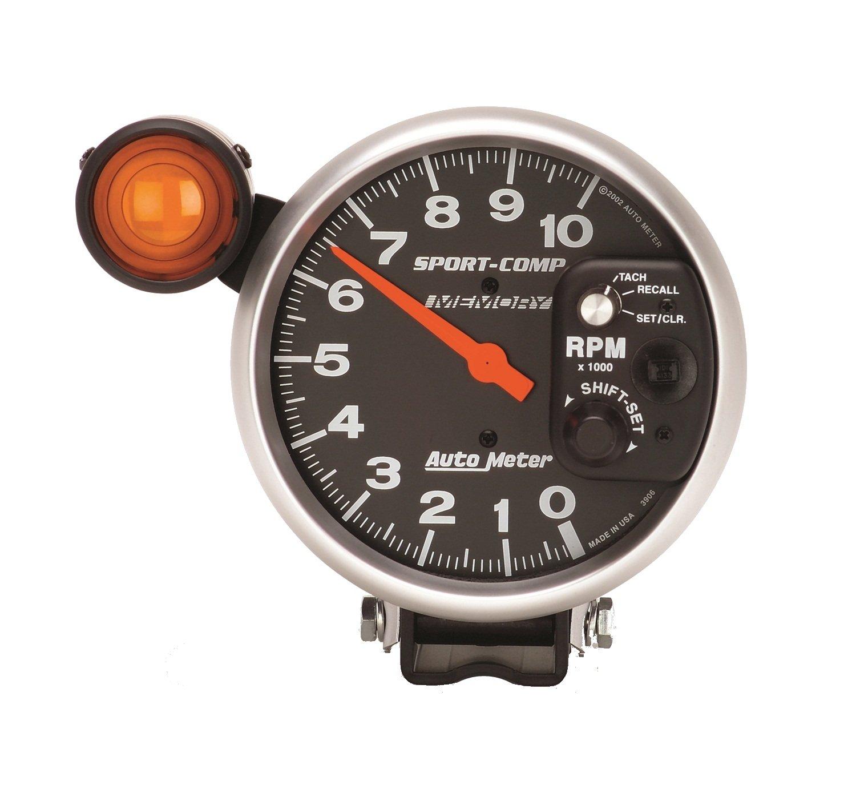Auto Meter 3906 Sport-Comp Shift-Lite Memory Tachometer