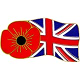 Poppy & Union Flag Pin Badge