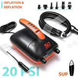 Swonder 20 PSI Digital Electric Air Pump- Intelligent Dual Stage & Auto-Off Function, Great for Inflatable Stand Up…