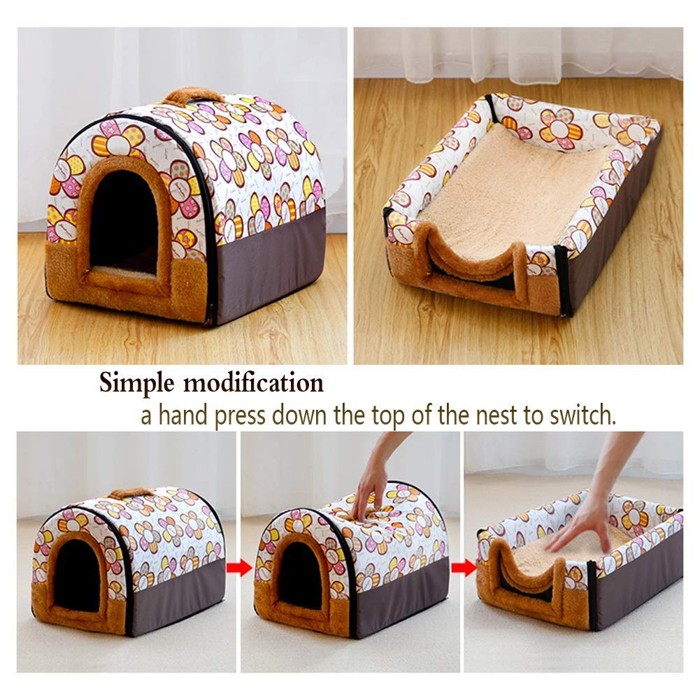 Warm Pet Kennel Puppy House Medium-SizeNamed Dog Pet Indoor House Washable Lovely Warm Comfortable Dog Mat Pad Cat Mat Creative Pet Beds Color : C, SizeName : S