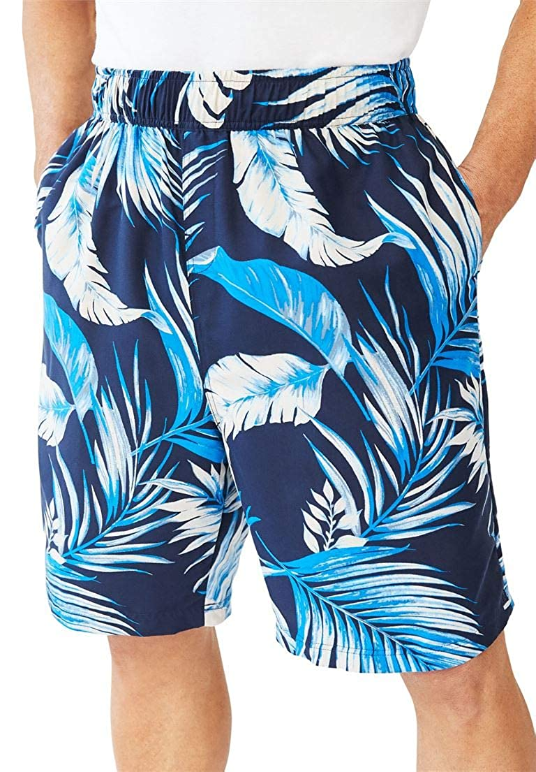 KingSize Men's Big & Tall Basic Island Novelty Swim Trunks