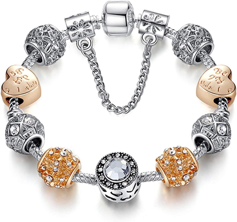 Silver Glitter Clear Murano Glass Bead for European Charm Bracelets Fashion Jewelry for Women Man