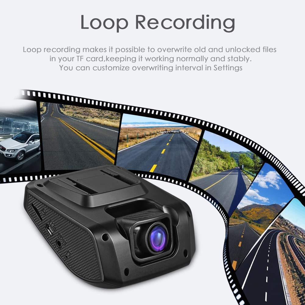 modello 1 Cdanlust 【Versione aggiornata】 Fotocamera per auto Full HD 1080P 170/° obiettivo grandangolare auto Cam esclusiva super visione notturna rilevazione di movimento registrazione in loop