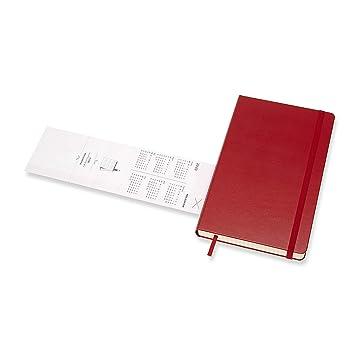 Moleskine - Agenda Diaria de 12 Meses 2020, Tapa Dura y Goma Elástica, Tamaño Grande 13 x 21 cm, 400 Páginas, Rojo Escarlata