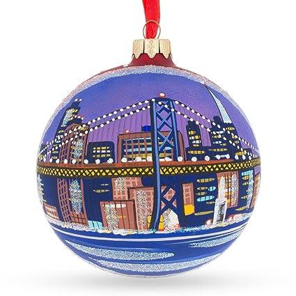 Image Unavailable. Image not available for. Color: BestPysanky San Francisco  Golden Gate Bridge Glass Christmas Ornament ... - Amazon.com: BestPysanky San Francisco Golden Gate Bridge Glass