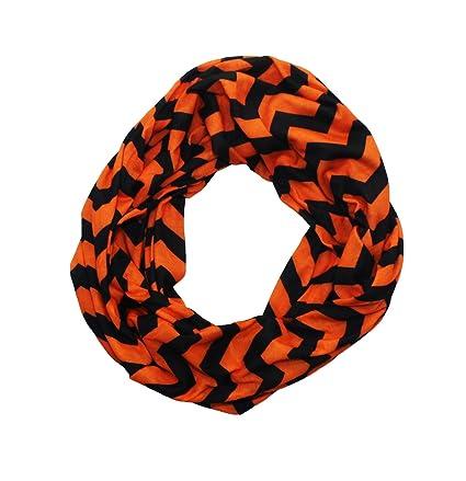 fa184234d4d Orange & Black Chevron Infinity Scarf