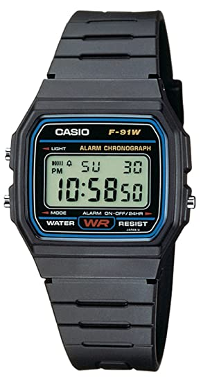 f22b6194f60 Casio Collection Unisex Adults Watch F-91W-1YER  Amazon.co.uk  Watches