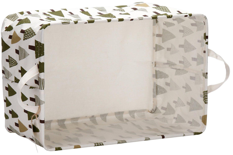 Sea Team 16.5 x 11.8 x 9.8 Square Natural Linen /& Cotton Fabric Storage Bins Shelves Storage Baskets Organizers for Nursery /& Kids Room Cactus