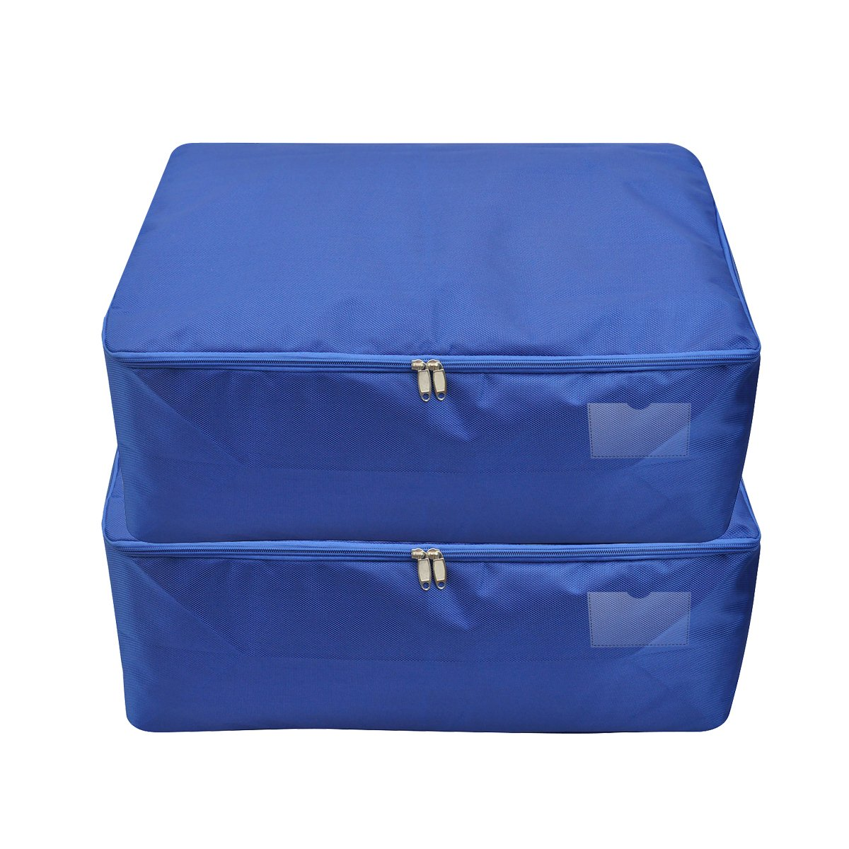 iwill CREATE PRO Travel Clothes Storage Bag, College Dorm Room Storage Container, Royal Blue, 2PCS