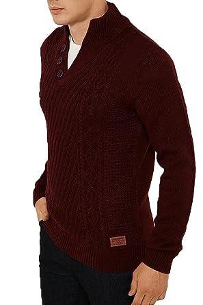 Threadbare Herren Pullover braun braun Gr. S, burgunderfarben