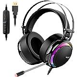 Tronsmart Auriculares Gaming Sonido Envolvente 7.1-Drivers de Transductores 50mm-Profesional con Micrófono Diadema…