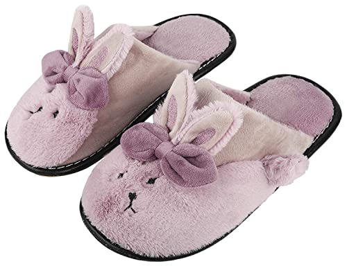850954b0407 Irsoe Women Solid Rabbit Velvet Anti-Slip Soft Bottom Slippers Wool Slip-On  Indoor   Outdoor  Buy Online at Low Prices in India - Amazon.in