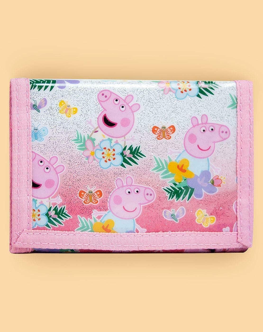 Peppa Pig Purse Coin Zip Zipped Wallet Kids Boys Girls