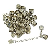 dailymall 10pcs Leather Cord Ends Cord End Cap Lobster Clasp and Extension Chains Kits - Silver, as described