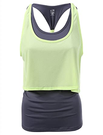 7c7011cb9a98a8 C9 Champion Women s Layered Long Tank Top at Amazon Women s Clothing store