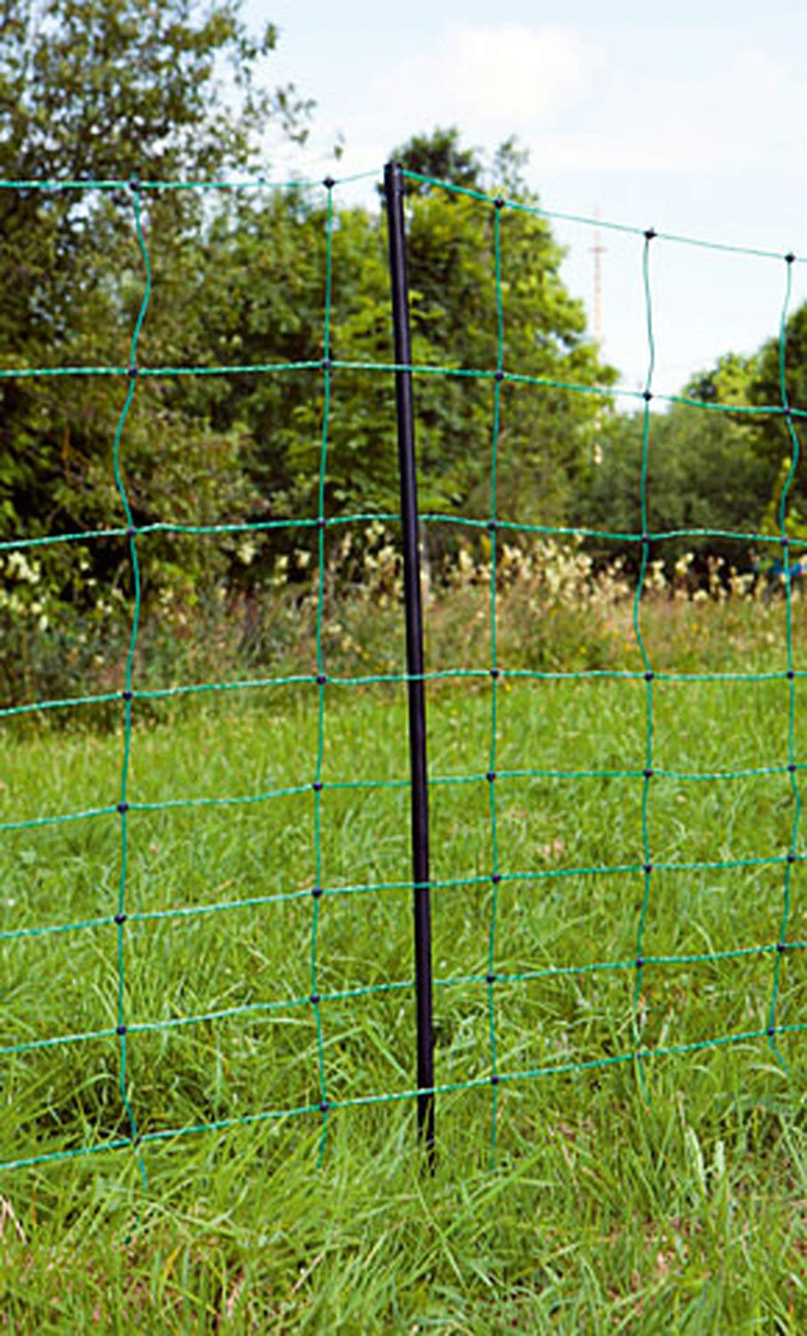 Kerbl Electrifiable Sheep Netting for Universal Use 14 stable plastic posts length 50 m electrifiable horizontals through 3 x 0.20 mm stainless steel conductors per strand double prong