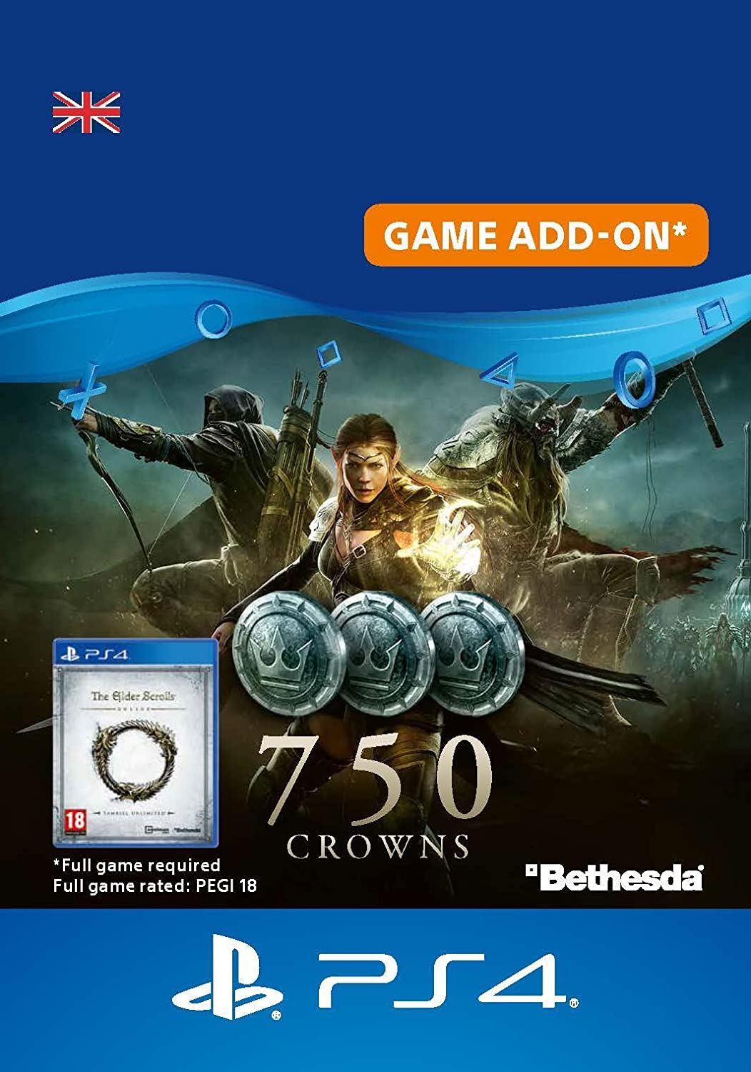 The Elder Scrolls Online - 750 Crowns DLC | PS4 Download