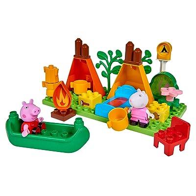 Big - Spielwarenfabrik 800057143 Big-Bloxx Peppa Pig Camping Set, Verde, Naranja, Rojo, Blanco, Rosa, Azul, BRAN: Juguetes y juegos