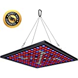 KINGBO 45W LED Plant Grow Light Panel Full Spectrum Reflector 225 LEDs 6-Band Includ UV IR with Switch for Indoor Plants Seeding & Growing & Flowering