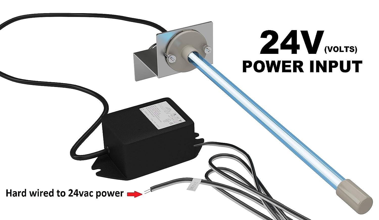 "24 volts Pureuv Uv Light AIR Purifier for Ac Hvac Coil 24v 14"" Germicidal Bulb with Magnet."
