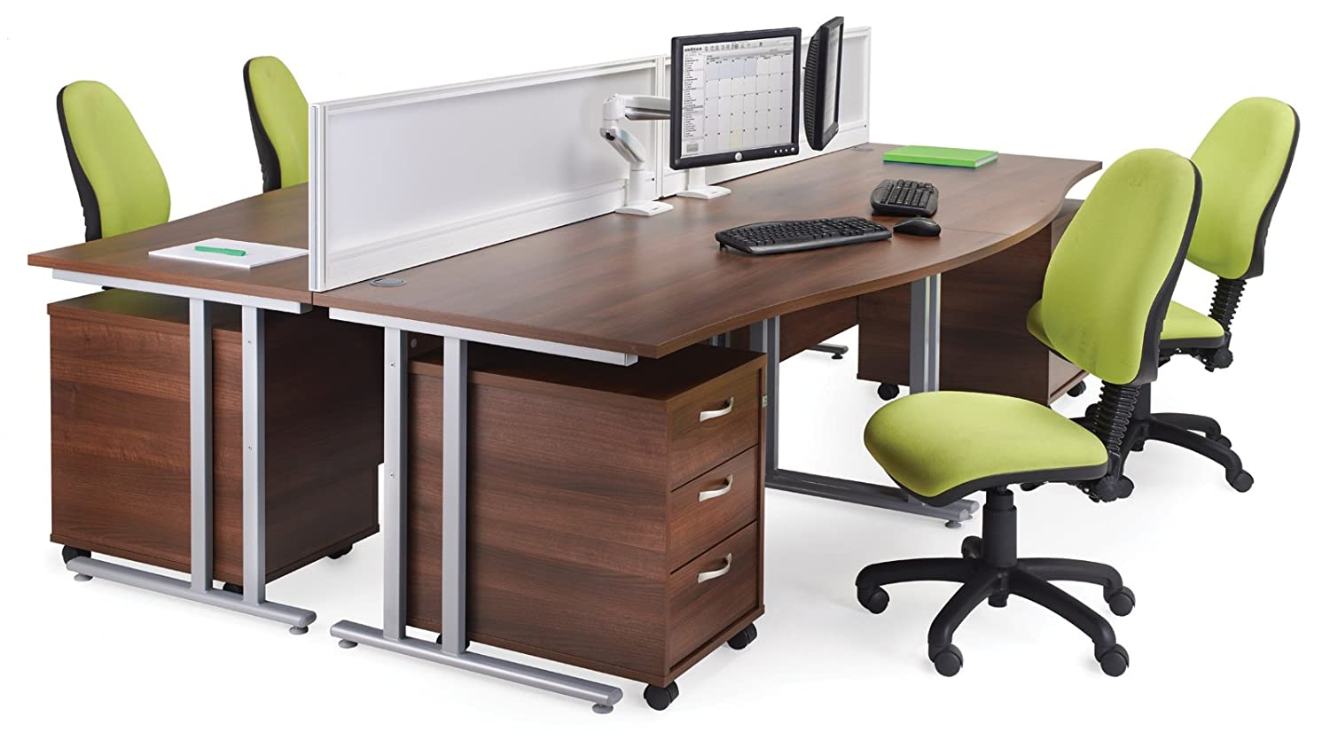Office Elephant OE05-R3MB Three drawer mobile pedestal with three shallow drawers which are lockable in beech