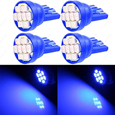 SAWE - T10 8-SMD LED Car Lights Bulb W5W 147 152 158 159 161 168 184 192 193 194 2825 (4 pieces) (Blue): Automotive