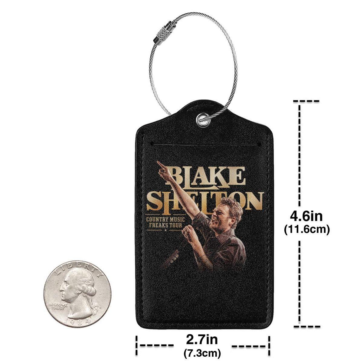 Blake Shelton Leather Luggage Tag Travel ID Label For Baggage Suitcase