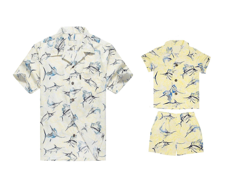 A Juego con el Traje del Padre Son Hawaiian Luau Camisa de ...