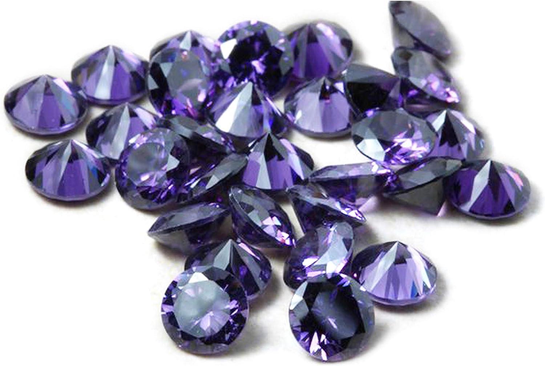 Color Púrpura Amatista Circonita cúbica AAA Piedras Preciosas Sueltas Redondo 1 mm-10 mm, Zirconia cúbica CZ Piedra para Anillo/Collar / Pendientes, fabricación de Joyas(1mm/1000pcs)
