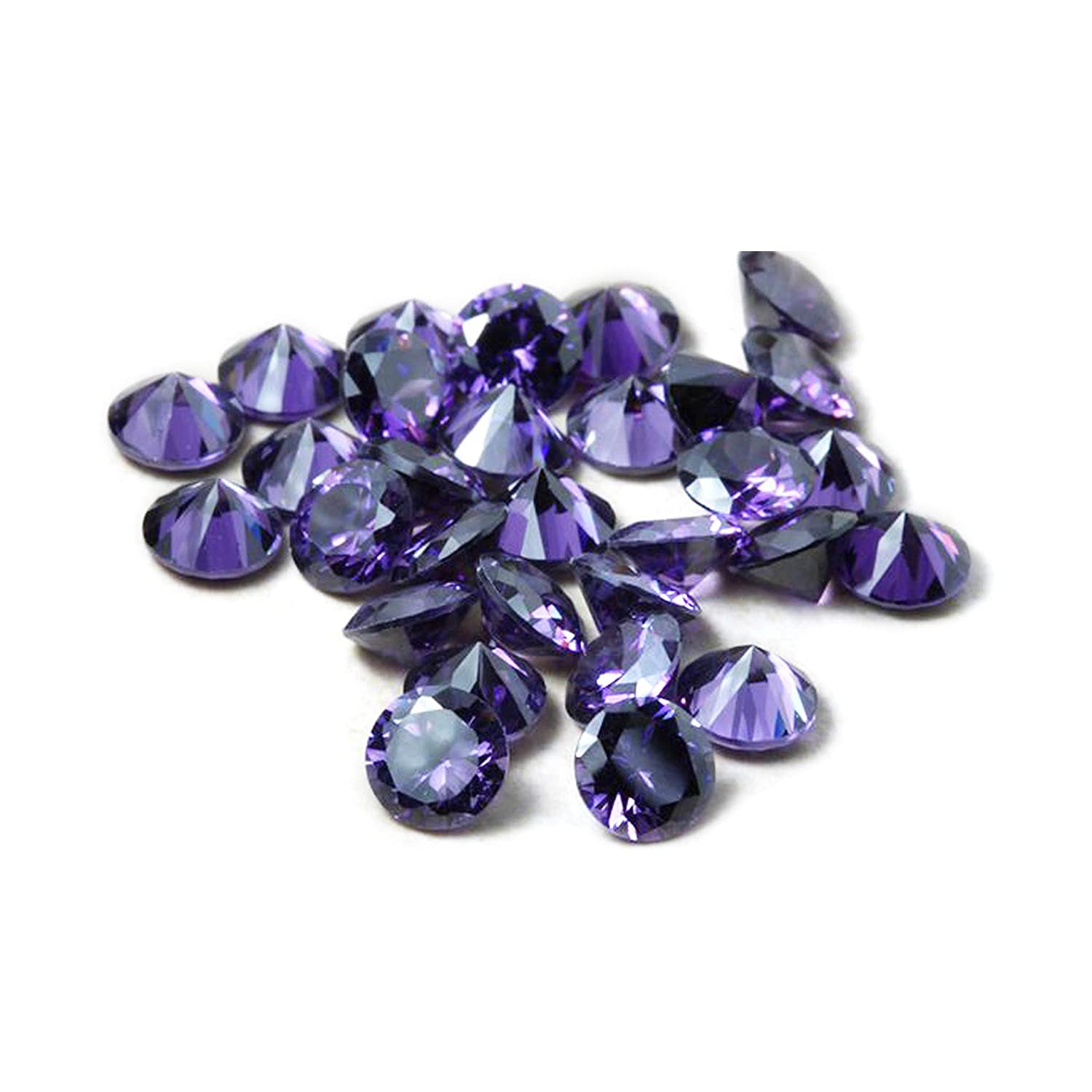 Neerupam Collection Amethyst Purple Colour Cubic Zirconia AAA Loose Gemstones Round 1mm - 10mm, Cubic Zirconia CZ Stone Ring/Necklace/Earrings, Jewelry DIY, Jewelry Making(1mm/1000pcs) NC-CCZ-AAA-AME-1