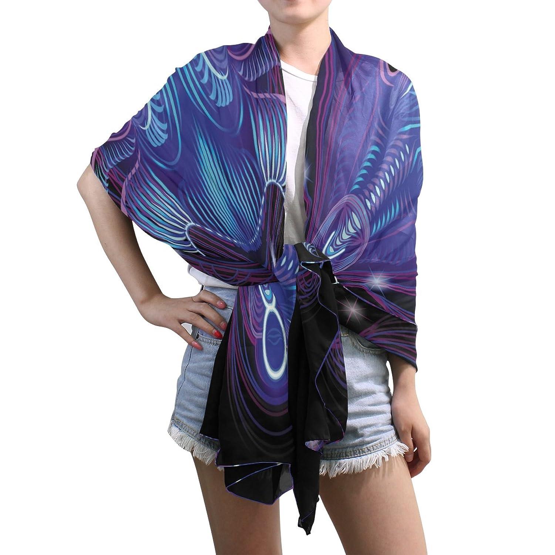 Shawl Wrap Sheer Scarves,Fantasy 12 Constellation Taurus,Oblong Chiffon Scarf