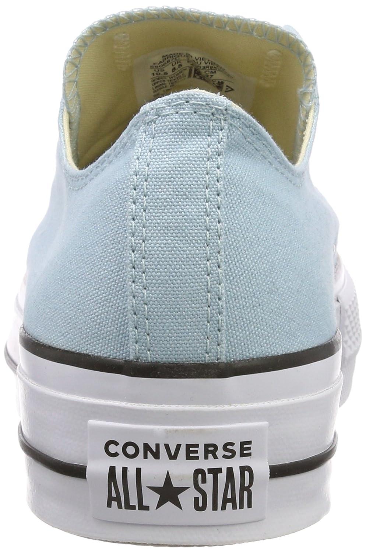 5ae57d7637ec Converse Women  s CTAS Lift Ox Ocean Bliss White Black Trainers   Amazon.co.uk  Shoes   Bags