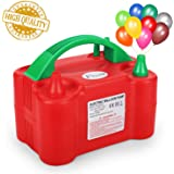 Flynie Electric Balloon Pump Air Balloon Pump Lower Noise Portable Electric Balloon Inflator Blower Dual Nozzle for…