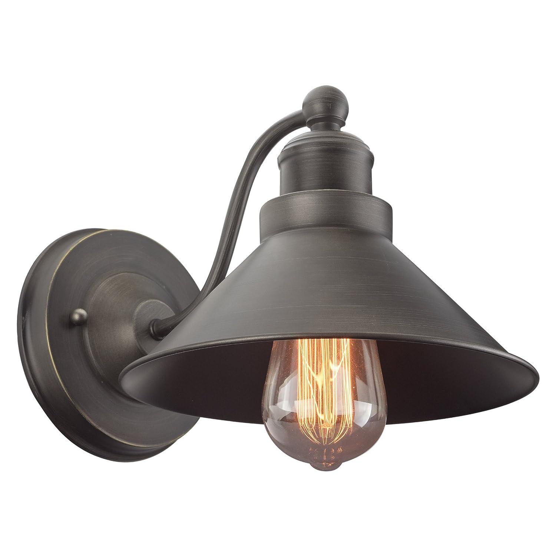 Kira Home Welton 25.5 Modern Industrial 3-Light Vanity//Bathroom Light Brushed Dark Industrial Bronze Finish