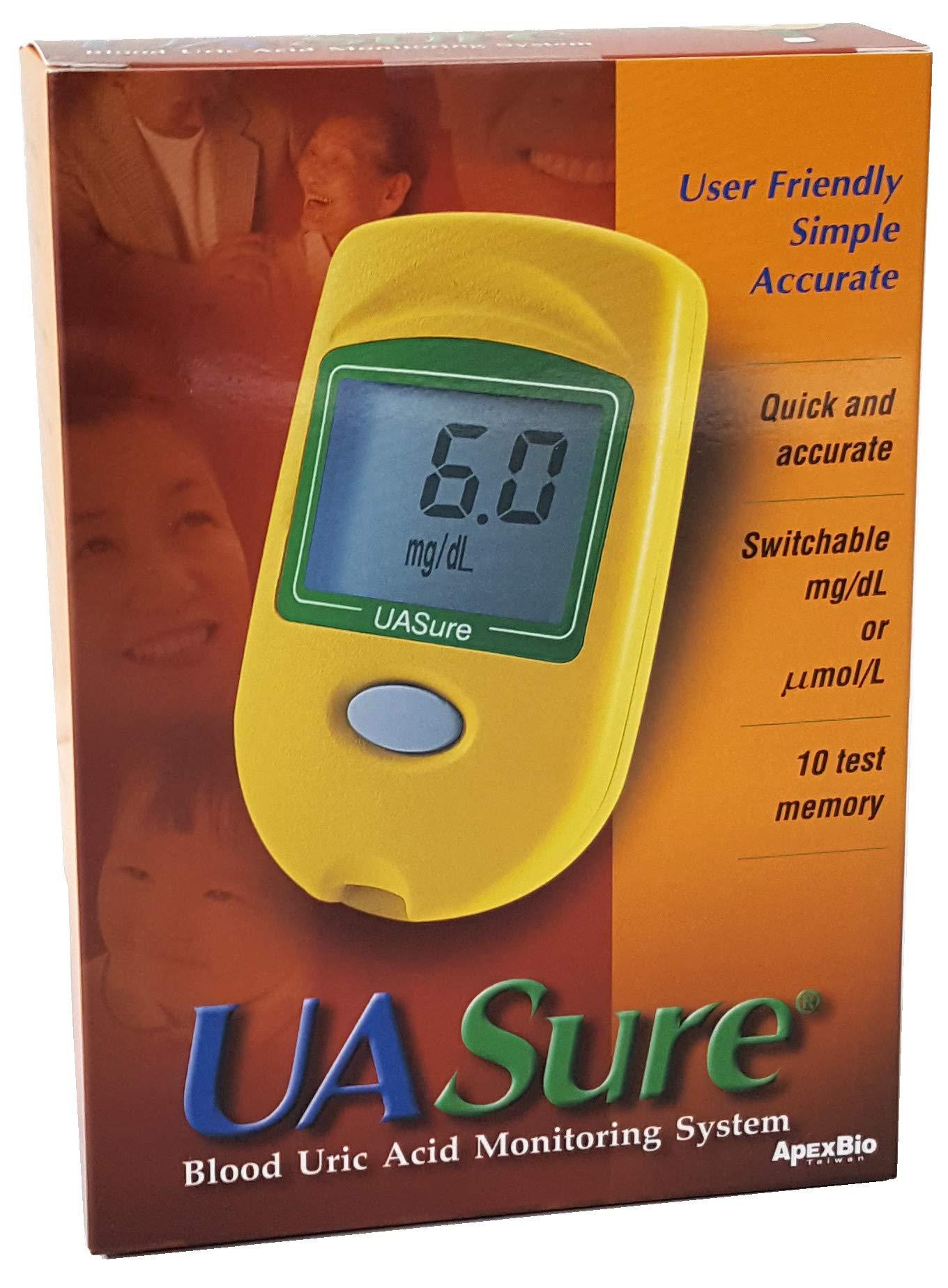 UASure Uric Acid Meter - UA Sure Test Kit - Gout Monitor Tester - Complete Kit - Includes 30 Test Strips
