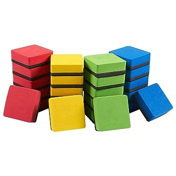 Borradores magnéticos para pizarra blanca, 24 unidades, para rotuladores y marcadores de borrado en seco, ideal para niños, hogar, escuela y oficina, ...