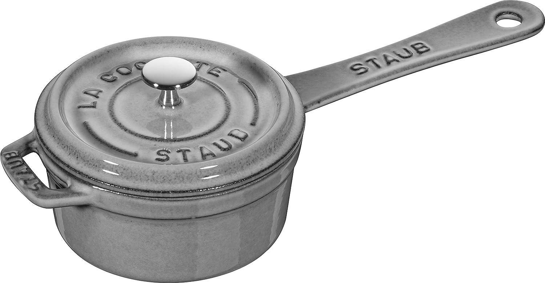 Staub Small Sauce Pan Salsera, Hierro Fundido, Gris Grafito, 10 cm: Amazon.es: Hogar