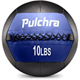 PULCHRA Soft Medicine Ball Leather Medical Slam Weight Wall Ball Fitness Training Workout Exercise for Better Power Balance Arm Leg Waist Muscles Build 2 4 6 8 10 12 14 16 18LB