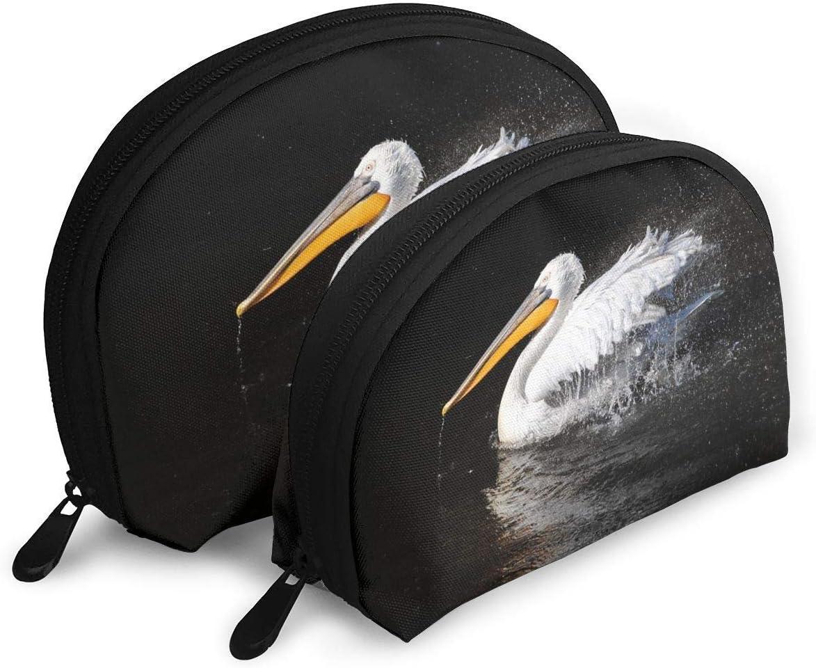 Pelican Bird Forma de Concha para Mujer Estuche de Transporte Bolsa de Embrague Bolsa de Almacenamiento Monedero Bolsa de Almacenamiento de Viaje Embrague de artículos de tocador de Viaje: Amazon.es: Equipaje