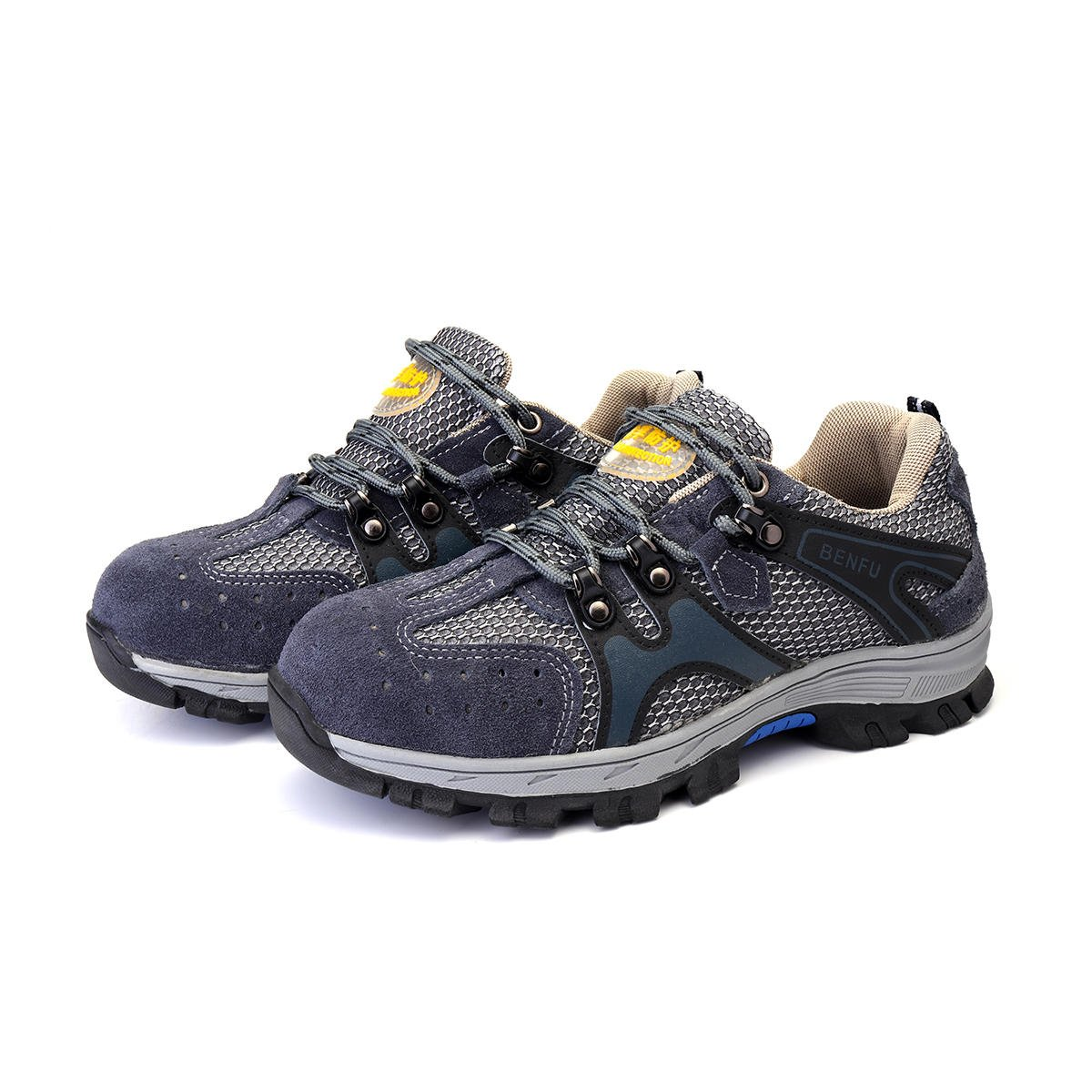 Men's Safety Shoes Steel Toe Work Sneakers Slip Resistant Breathable Hiking Climbing Shoes - 7.5 by Anddoa (Image #5)