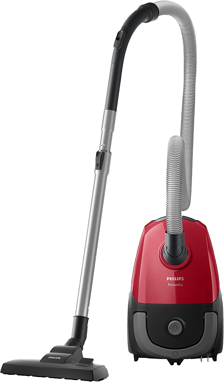 Philips FC824309 PowerGo kompakter (Bodenstaubsauger, 750 W, AAA Energie Label, Allergiefilter) rot