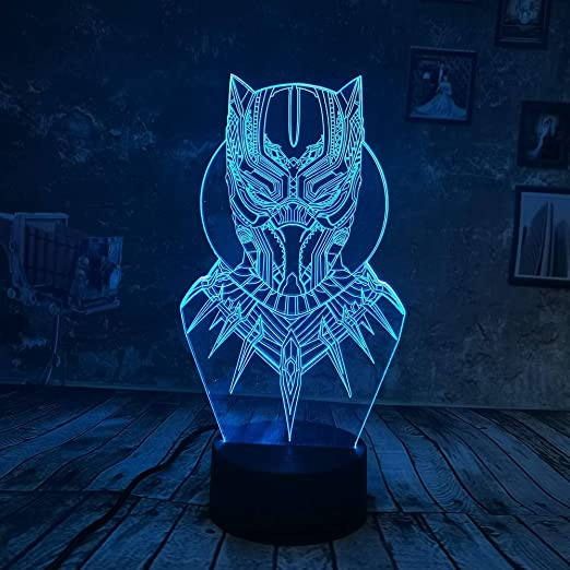 wangZJ 3d Night Light / 3d Illusion Lamp / 7 colores Touch ...