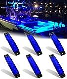Shangyuan Marine Boat Lights, Utility Led Interior Lights For Boat Deck Courtesy Transom Cockpit Light, 12v Waterproof Marine Lighs For Yacht Fishing Pontoon Boat Sailboat Kayak Bass Boat Vessel, 6Pcs
