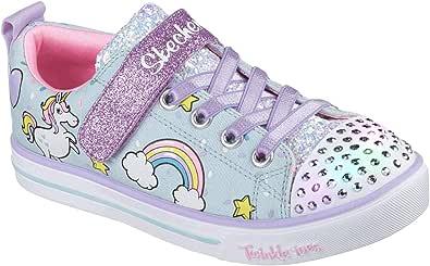 Skechers Unisex-Child Boys Girls - Sparkle Lite-Unicorn Craze Blue Size: 12 M US Little Kid