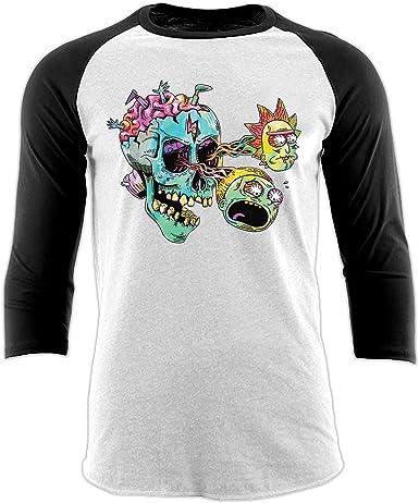 Rick and Morty - Camiseta de béisbol Unisex, diseño de Ojos de Calavera: Amazon.es: Ropa y accesorios