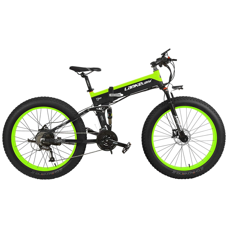 500 W Motor 48 V 14.5 Ah Bater/ía de Litio con de Bicicleta Ordenador Pedal Ayuda para Pedal el/éctrico LANKELEISI T750P 26 Pulgadas Plegable Bicicleta de Monta/ña 1000 W