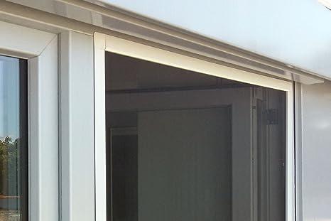 JAROLIFT Mosquitera con marco de aluminio - SlimLine para ventanas 70 x 150cm, color blanco - Montaje sin perforación: Amazon.es: Bricolaje y herramientas